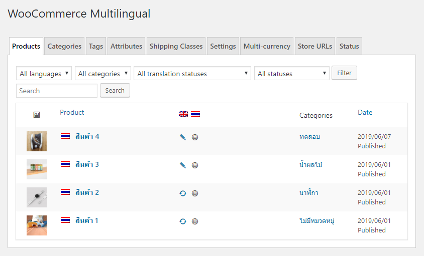 easy translate woocommerce product